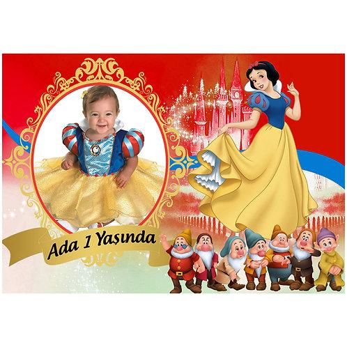 Pamuk Prenses Afiş 40x28 cm PVC Kaplı