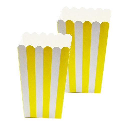 Popcorn Sarı Çizgili Mısır Kutusu 10'lu