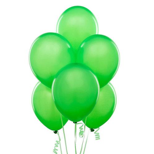 Yeşil Metalik Balon 10 Adet