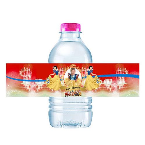 Pamuk Prenses Kişiye Özel Su ve Peçete Sargısı 10 Adet