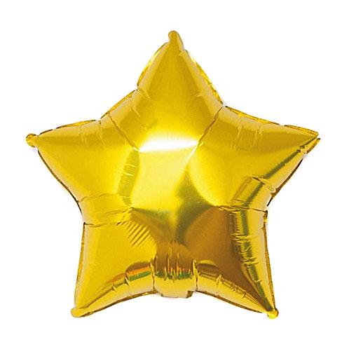 Altın Metalik Yıldız Folyo  Balon 1 Adet