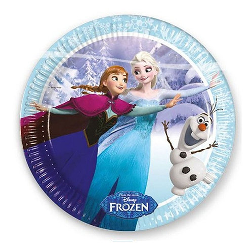 Karlar Ülkesi Elsa Frozen Tabak Karton 8 Adet