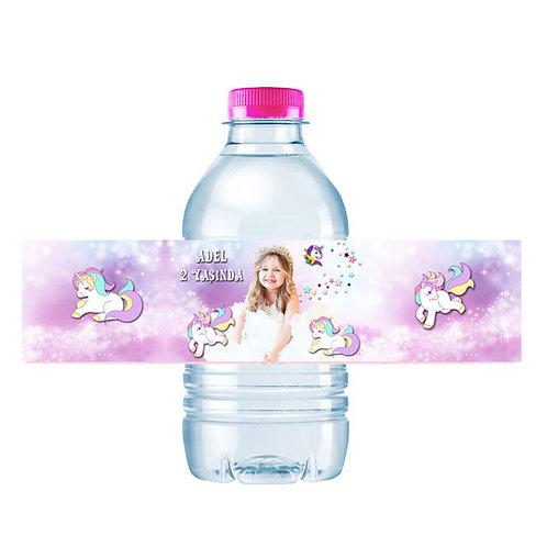 Unicorn Kişiye Özel Su ve Peçete Sargısı 10 Adet