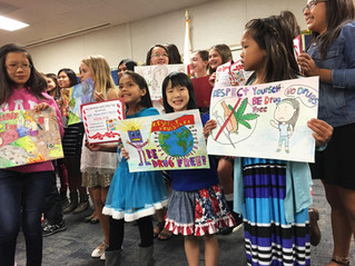 2015 Corona-Norco unified school district Red ribbon love yourself be drug free Poster contest