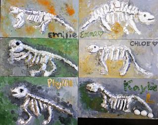 Dinosaur fossils Clay恐龍化石黏土製作