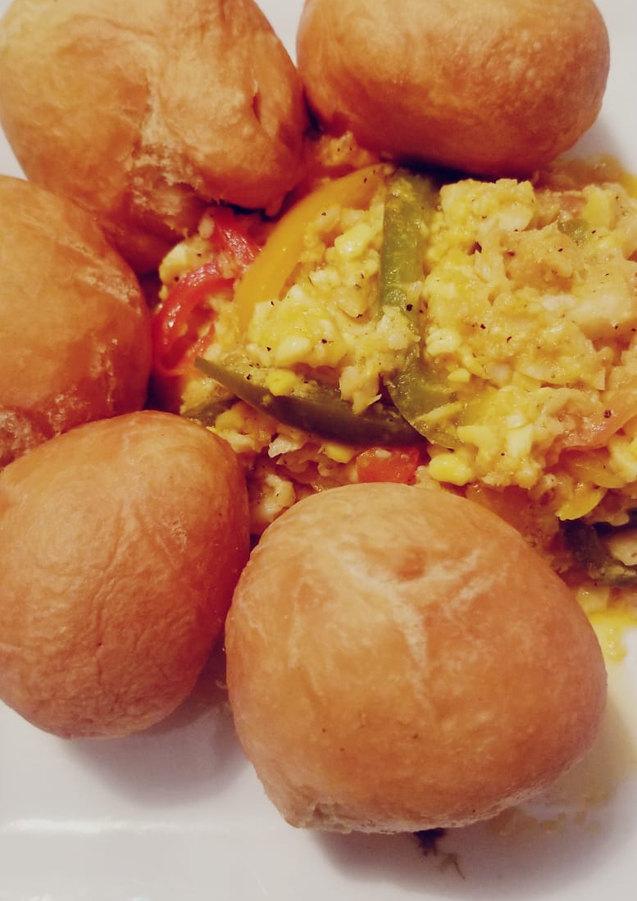 Ackee & Salt Fish and Fried Dumplings