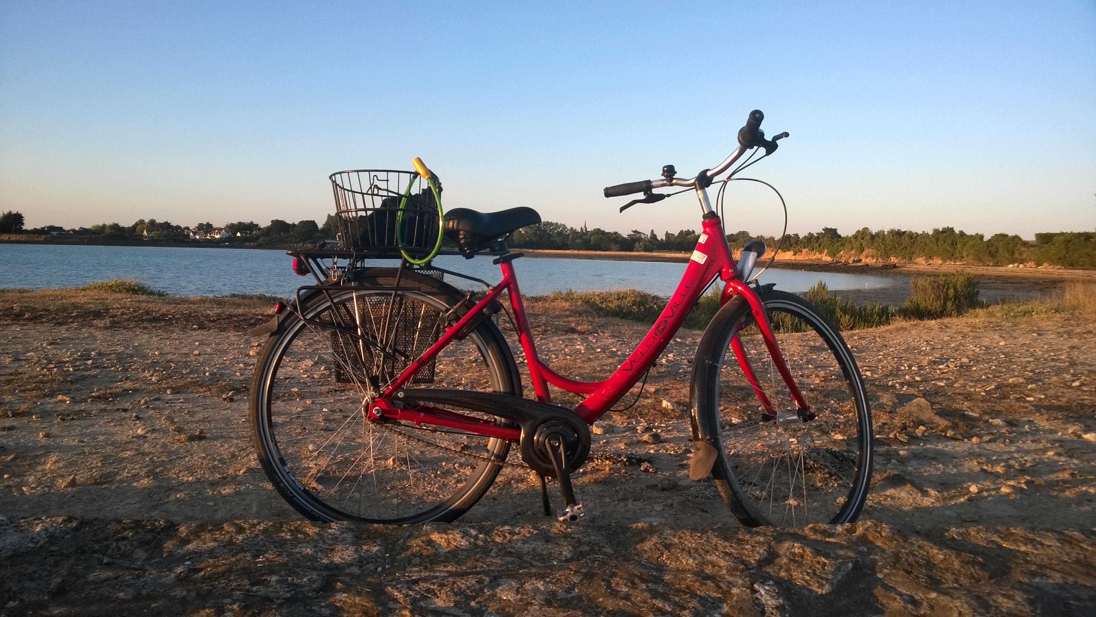 vélo à l'île d'Arz