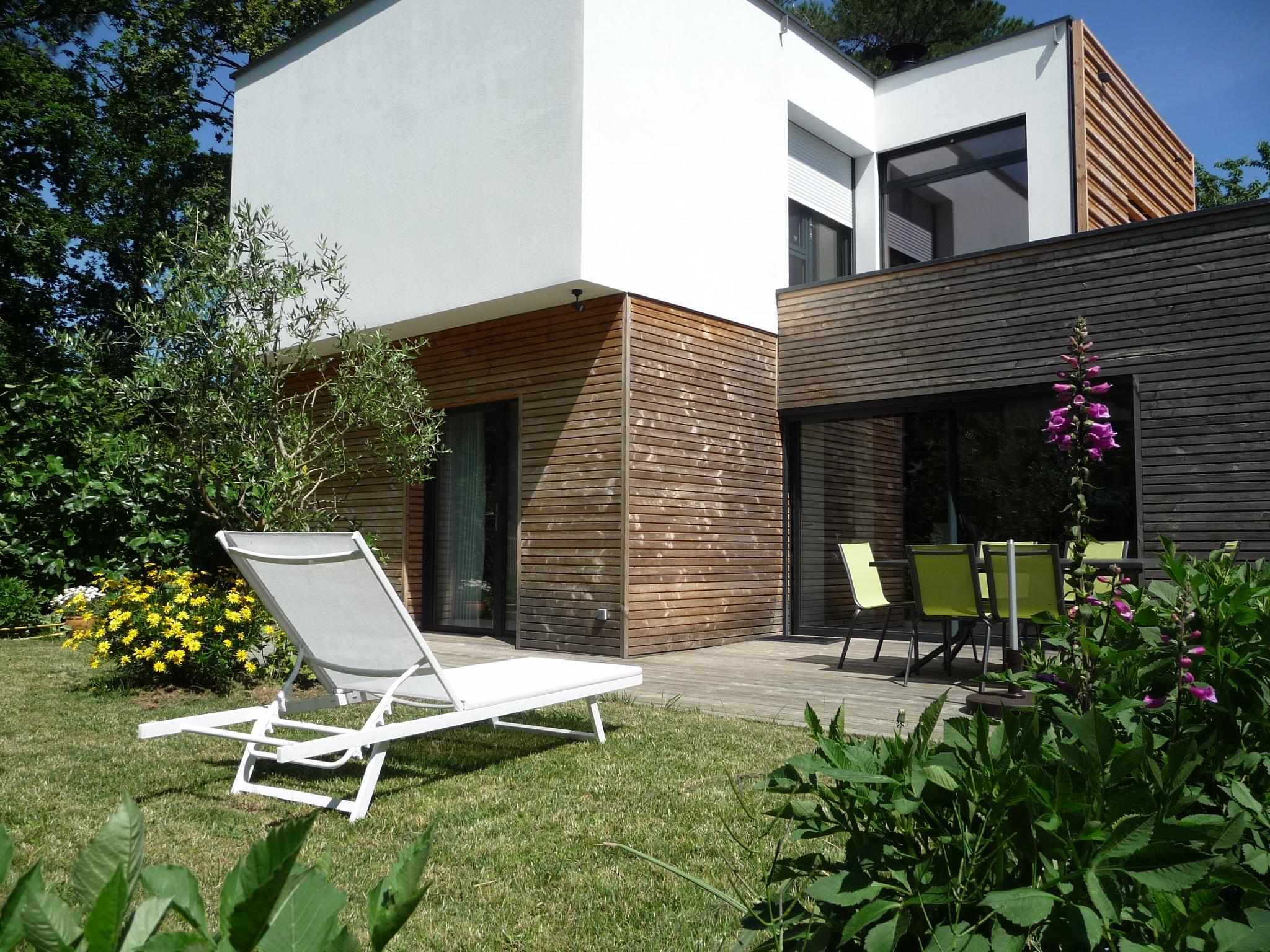 façade sud jardin terrasse