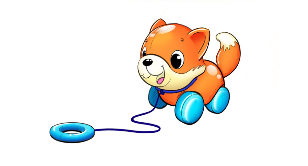Fox pull toy