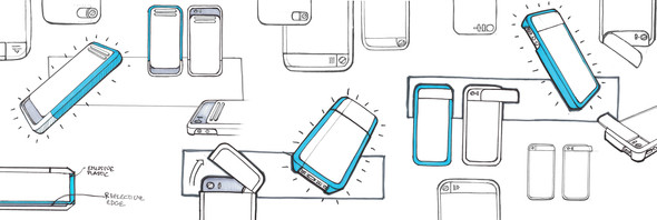 Flash Phone Case Sketches