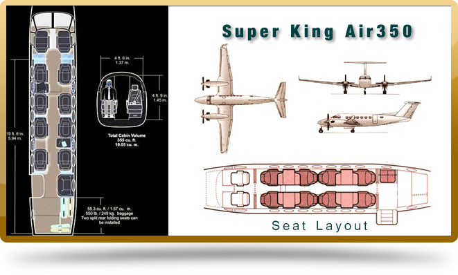 fleet-king-air-350 seating
