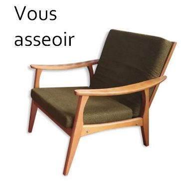 fauteuil et chaises vintage