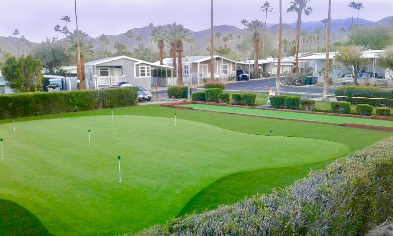 Putting Green and Bocce Court