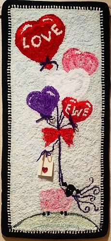 Valentine Rug Hooking Kit