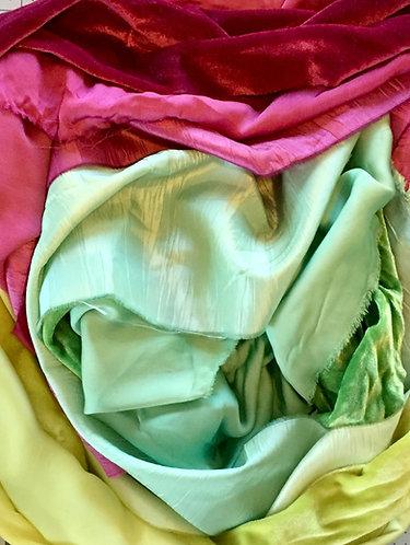 Duos-2 fabrics, same dyepot