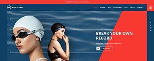 תבנית חנות וירטואלית למכירת מוצרי שחייה
