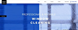 תבנית אתר וויקס לניקוי חלונות