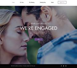 תבנית אתר חתונה