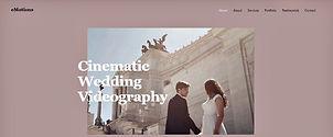 תבנית אתר וויקס לצלם וידאו לחתונות