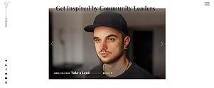 תבנית אתר וויקס למנהיגות קהילתית