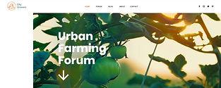 תבנית אתר וויקס לבלוג חקלאות עירונית