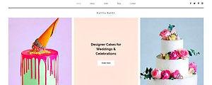 תבנית אתר וויקס למעצבת עוגות