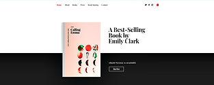 תבנית אתר וויקס לסופרת עם חנות וירטואלית