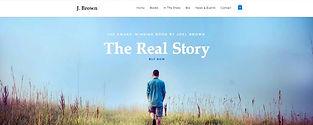 תבנית אתר לסופר עם חנות למכירת ספרים