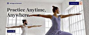 תבנית אתר וויקס לשיעורי יוגה אונליין