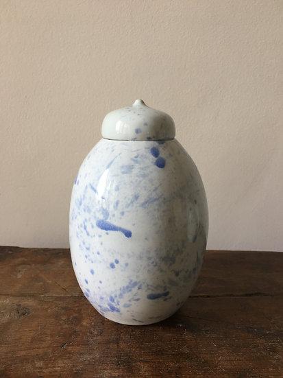 Large Jar - Splatter Azure