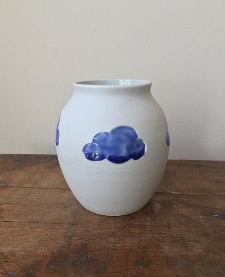 Cloud Vase - Deep Blue