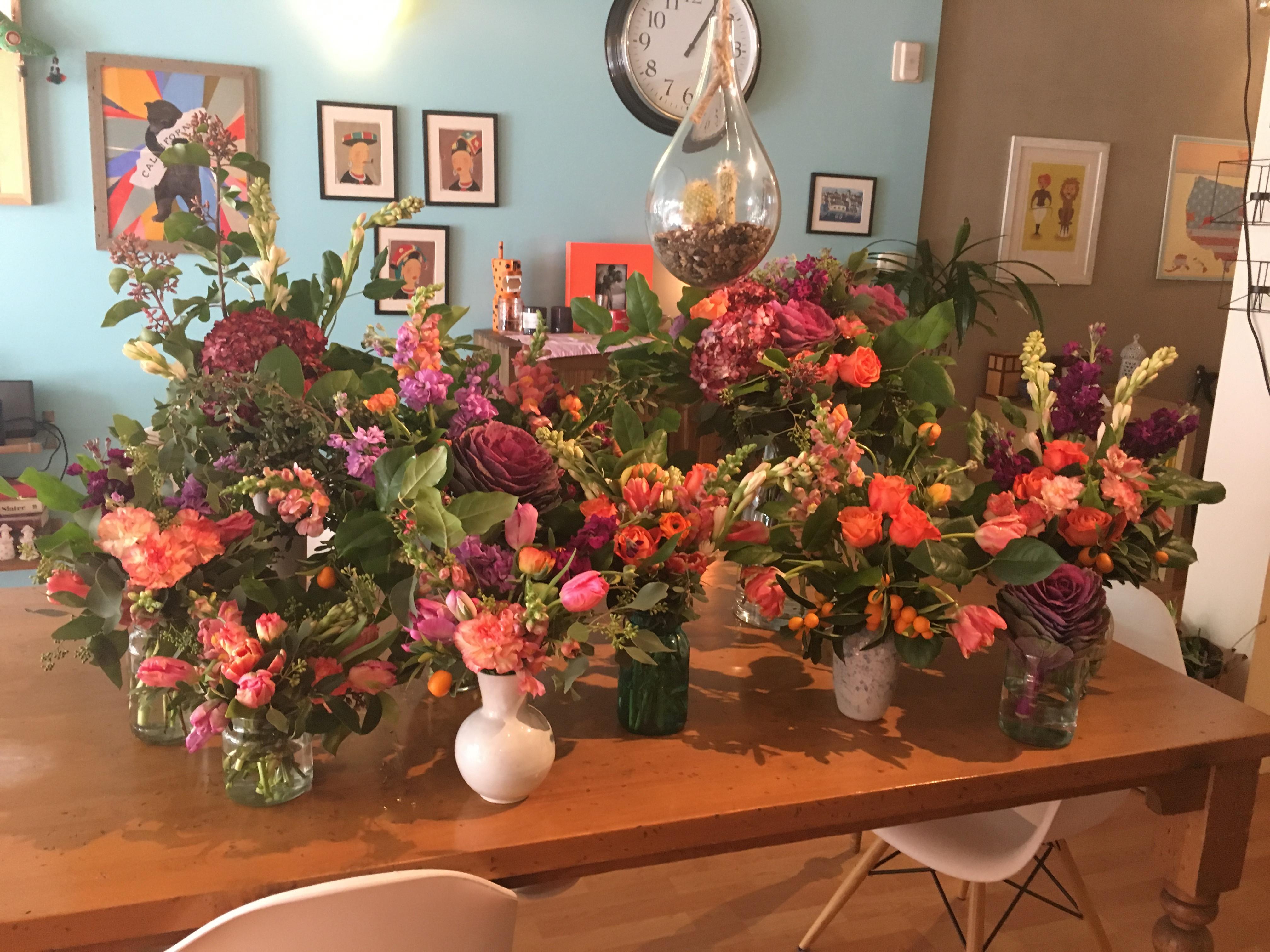Flower Market Tour + Bouquet