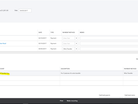 QuickBooks: Recording Deposits with Fees