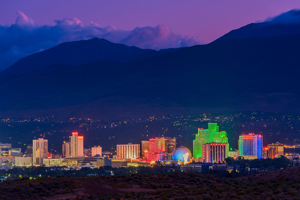 Skyline of Reno Nevada USA at Dusk.jpg
