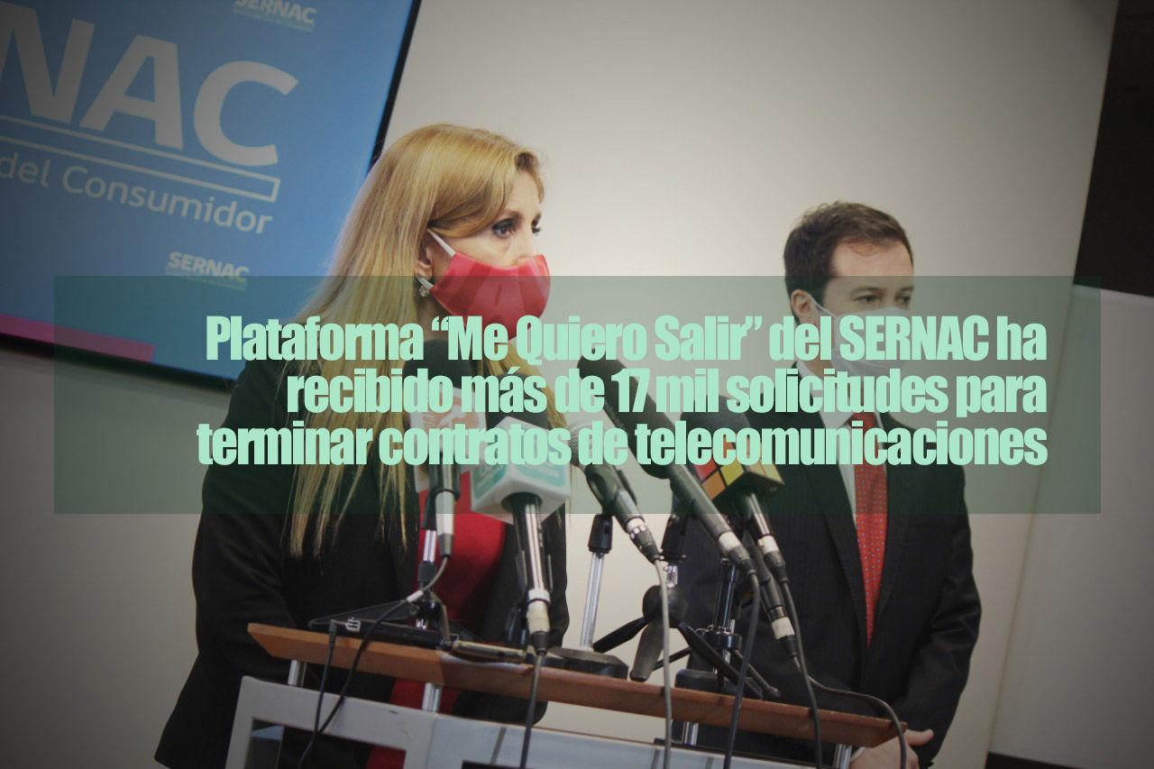 """Plataforma """"Me Quiero Salir"""" del SERNAC ha recibido más de 17 mil solicitudes para terminar contratos de telecomunicaciones"""