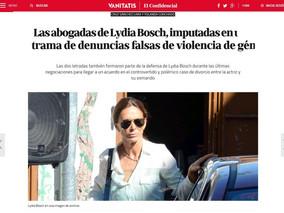 Las abogadas de Lydia Bosch, imputadas en una trama de denuncias falsas de violencia de género