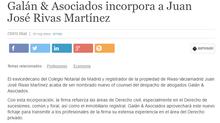 Galán & Asociados incorpora a Juan José Rivas Martínez