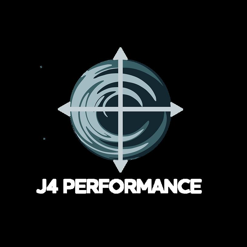 J4 Logo - colour, black back, w: white l