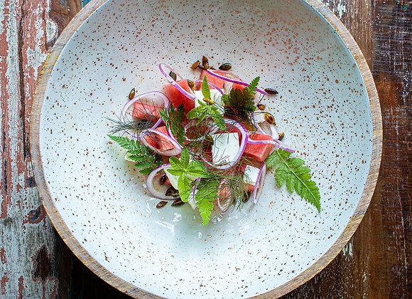 Salade van watermeloen