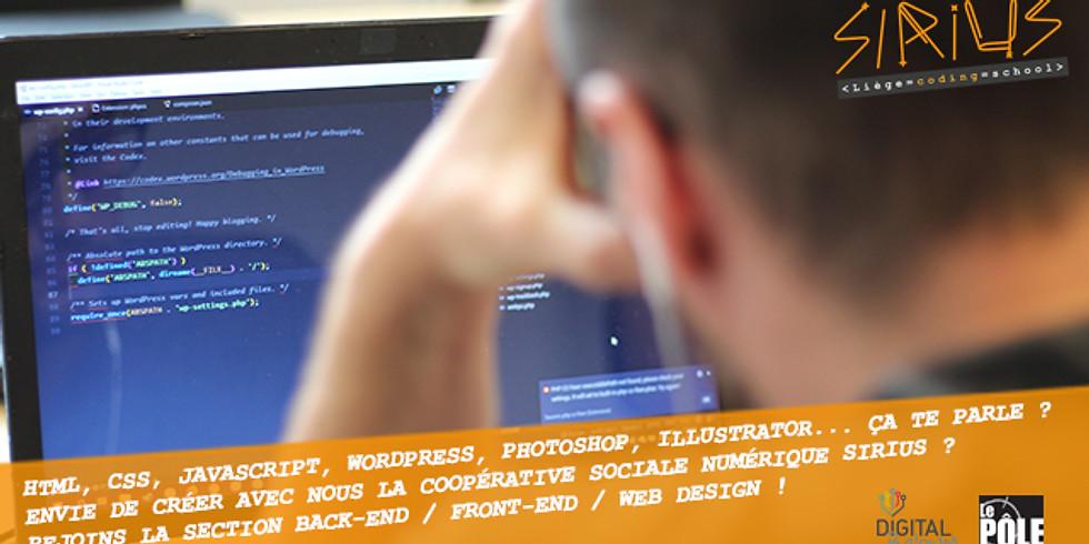 T'es dev. back-end / front-end / web designer ? JOIN Sirius NOW