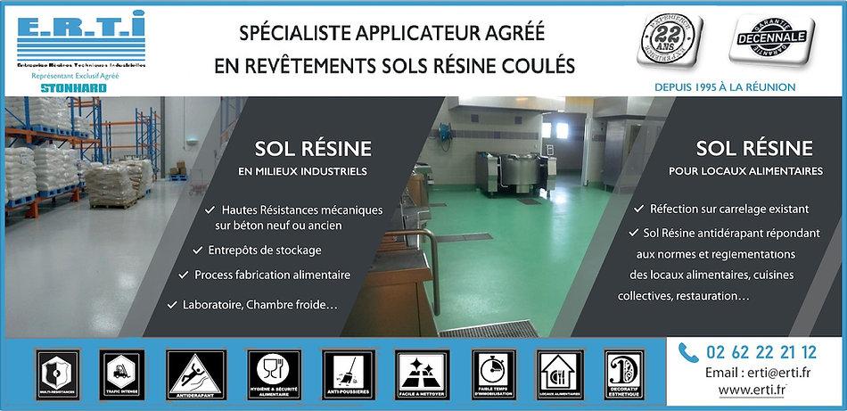 E.R.T.I Sol Résine applicateur STONHARD LIQUIDELEMENTS La Réunion 974