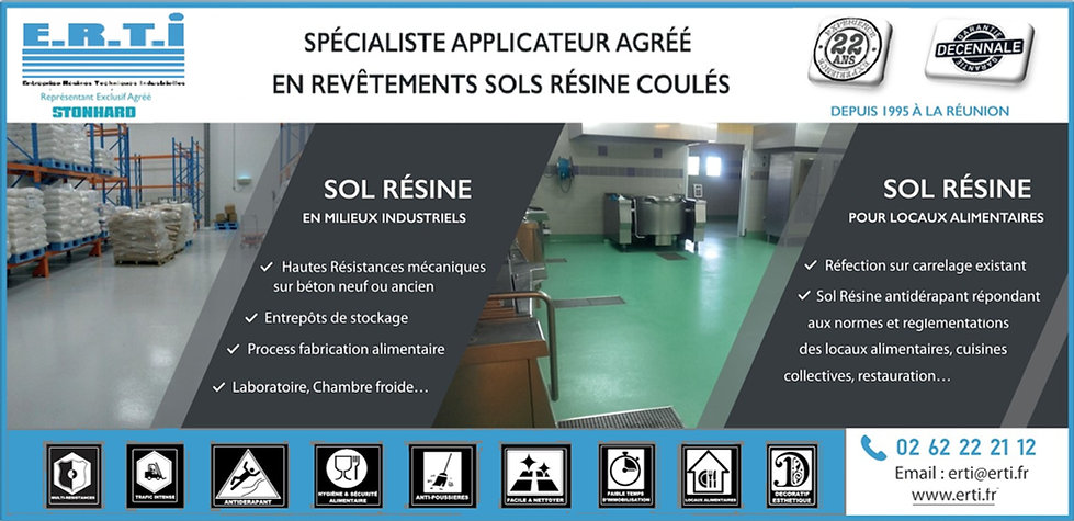 E.R.T.I Sol Résine applicateur STONHARD LIQUIDELEMENTS La Réunion 974