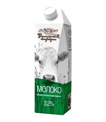 "Молоко ""Фермерское"" 3,2% тетра-пак"