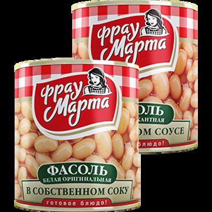 """Фасоль белая в с/с """"Фрау Марта"""" 340 мл ж/б"""