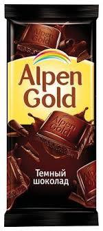 "Шоколад темный ""Alpen Gold"" 90 г"