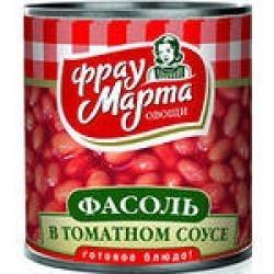"""Фасоль белая в т/с """"Фрау Марта"""" 340 мл ж/б"""