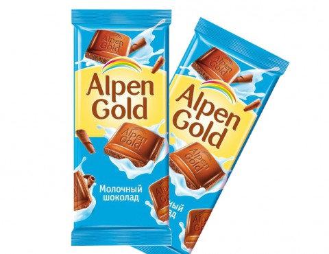 "Шоколад молочный ""Alpen Gold"" 90 г"
