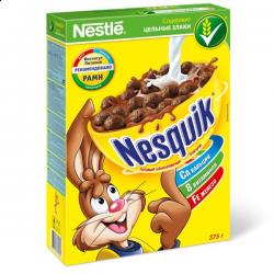 """Готовый завтрак шоколадные шарики """"Несквик"""" 250 гр"""