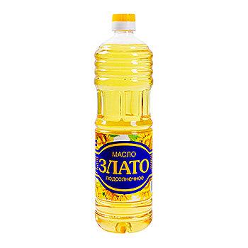 """Масло подсолнечное """"Злато"""" 1 л"""