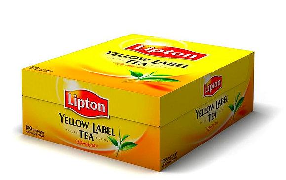 """Чай пакетированный чёрный  """"Липтон"""" 100 пакетиков"""